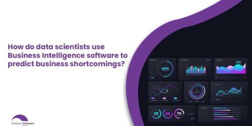 How do data scientists use Business Intelligence Software to predict business shortcomings?